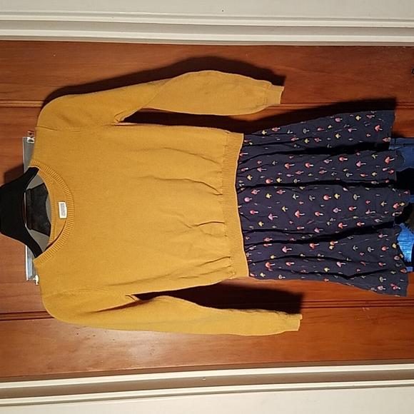 Gymboree large 10/12 girls dress mushrooms